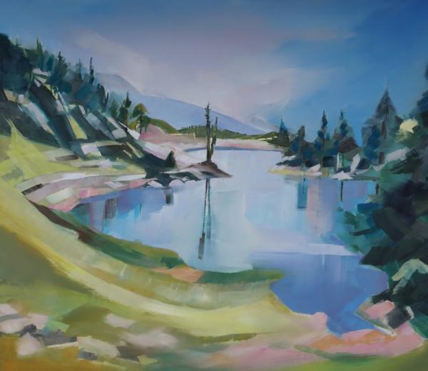 Lac Achard 60×60