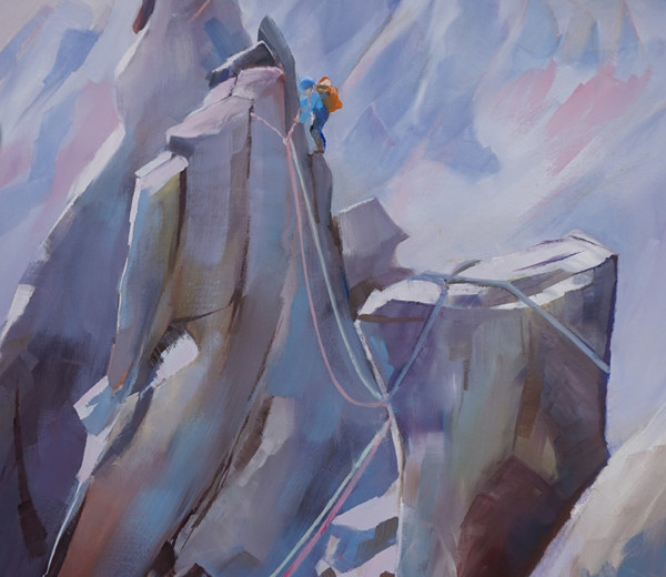 L'arête du doigt Belledonne 100x50cm