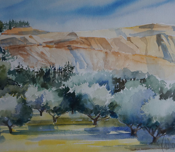 Le sud 30×40 aquarelle