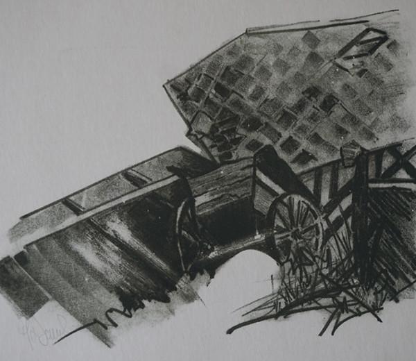 Abandon lithographie 30x40cm